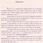 gedeelte van de brief, waarmee het comité de bevolking opriep tot donatie.