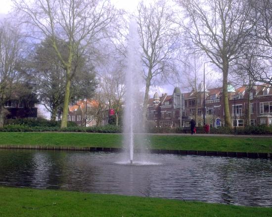 Grote fontein aan