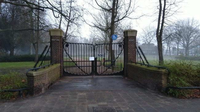 Park gesloten op oudjaarsdag