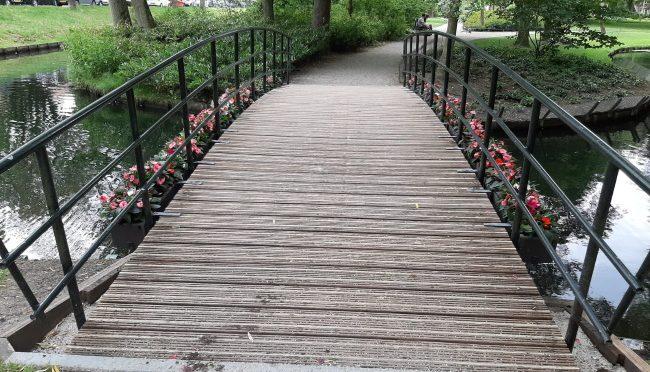 Nieuwe bloemen bij de brug